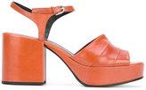 Jil Sander block heel sandals - women - Leather - 36