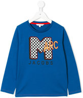 Little Marc Jacobs logo print long sleeve top