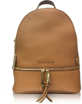 Michael Kors Rhea Zip Medium Luggage Leather Backpack