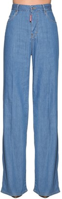DSQUARED2 High Waist Bohemian Denim Jeans
