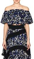 3.1 Phillip Lim Women's Painted-Dot-Print Silk Crop Top