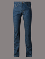 Autograph Straight Fit Tinted Stretch Jeans
