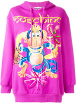 Moschino crowned monkey hoodie - women - Cotton - XXS