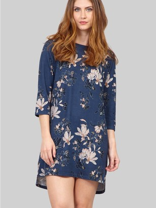 M&Co Izabel floral 3/4 sleeve tunic dress