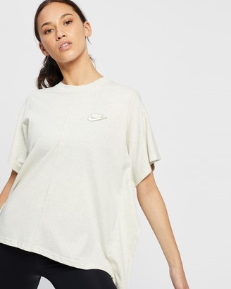 Nike Women's Grey Basic T-Shirts - Earth Day Top - Size S at The Iconic