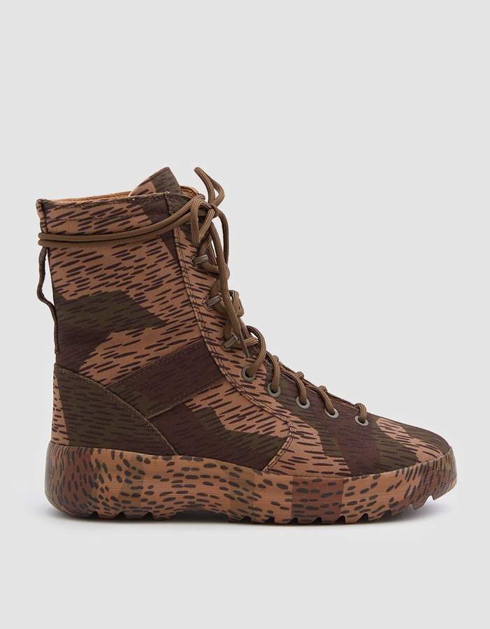 Yeezy Washed Canvas Military Boot in Splinter Camo