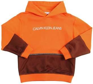 Calvin Klein Jeans Logo Print Cotton Sweatshirt Hoodie