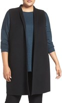 Eileen Fisher Plus Size Women's Brushed Double Face Wool Blend Vest