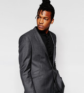Hart Hollywood By Nick Hart 100% Wool Dogtooth Blazer With Notch Lapel In Slim Fit