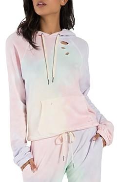 n:philanthropy n: philanthropy Gamble Distressed Tie-Dye Hooded Sweatshirt