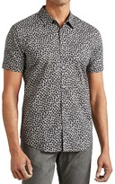 John Varvatos Floral Slim Fit Button-Down Shirt