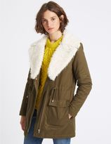 Marks and Spencer Cotton Rich Shearling Parka