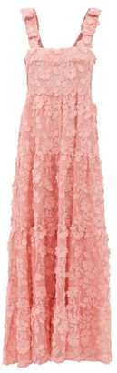 Dodo Bar Or Lima Floral-applique Cotton-voile Maxi Dress - Pink