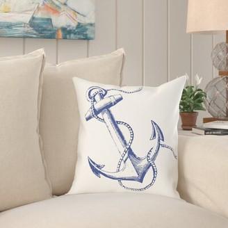 Capitol Anchor Throw Pillow Breakwater Bay