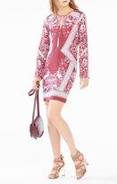 BCBGMAXAZRIA Freya Scarf Print Dress