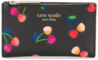 Kate Spade Cherry-Print Slim Wallet