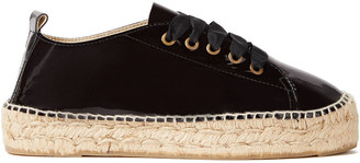 Manebi Patent-leather Platform Espadrille Sneakers