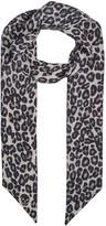 Alexander Mcqueen Leopard And Skull-print Silk Tie