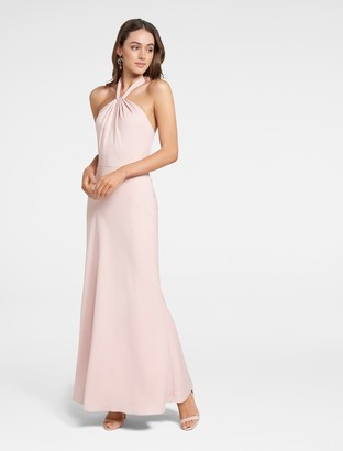 Forever New Chen Halterneck Gown - Blush - 4