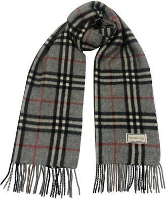 Burberry Silver Cashmere Scarves