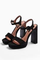 Topshop Womens **Wide Fit Saturn Black High Platform Shoes - Black