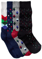 Happy Socks Boxed Combed Cotton Crew Socks - Set of 4