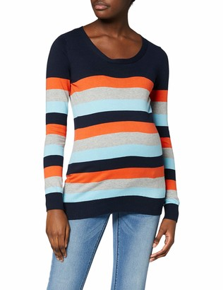 Mama Licious Mamalicious Women's Mlkenna L/s Multi Color Knit Top A. Long Sleeve