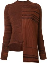 Stella McCartney asymmetrical stripe jumper - women - Silk/Cotton/Polyamide/Spandex/Elastane - 40