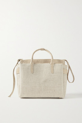 Nancy Gonzalez Christie Convertible Crocodile-trimmed Linen Tote - Beige
