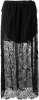 Chloé embroidered playing card lace skirt