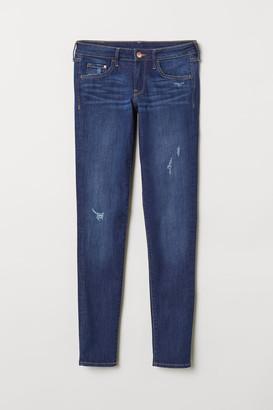 H&M Super Skinny Low Jeans - Blue