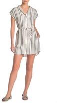 Cloth & Stone Belted Stripe Print Shirt Dress