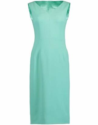 Dolce & Gabbana Stretch Cady Slim V-Neck Dress