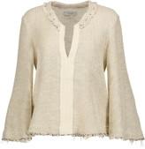 IRO Koltone frayed woven cotton-blend sweater