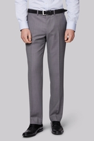 Moss Bros Tailored Fit Silver Grey Pindot Trouser