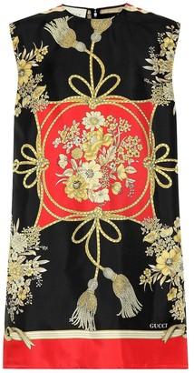 Gucci Floral silk twill tunic