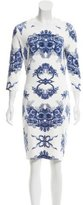 Preen Digital Print Midi Dress