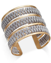 INC International Concepts Gold-Tone Faux-Suede Wrapped Cuff Bracelet, Only at Macy's