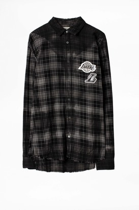 Zadig & Voltaire Stanael Lakers NBA Check Shirt