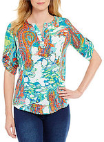 Westbound Petites Roll Sleeve Tunic