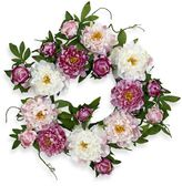 Bed Bath & Beyond Nearly Natural 22-Inch Peony Wreath