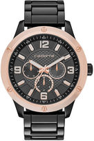 Claiborne Mens Gunmetal Watch