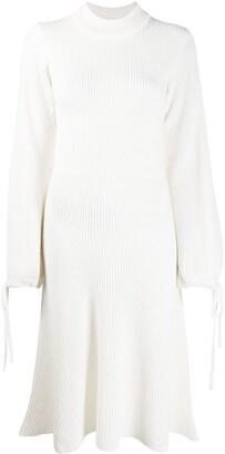 MSGM Rib-Knit Mid-Length Dress