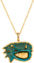 Gurhan Diamond Hatmehit Amulet Pendant Necklace