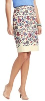 LOFT Tall Floral Vines Placed Print Pencil Skirt