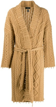 Alanui Cable Knit Cardi-Coat
