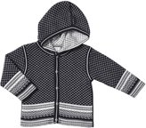 Kissy Kissy Baby Fair Isle Hooded Cardigan (Baby) - Navy/White-12-18 Months