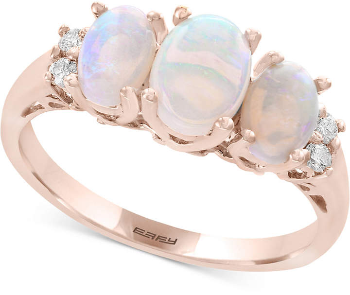 Effy Opal (1 ct. t.w.) & Diamond Accent Ring in 14k Rose Gold