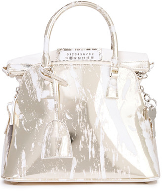 Maison Margiela Smooth And Mirrored-leather Tote
