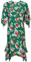 MSGM floral print pointy dress